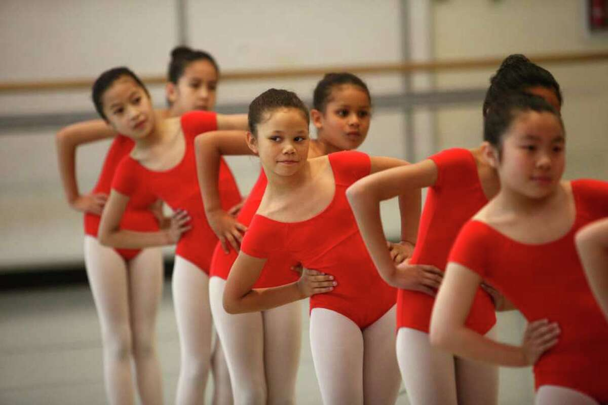 Students perform during Pacific Northwest Ballet's annual DanceChance observation day. Students in the program showcased what they learned during a show for parents, family, friends and supporters.