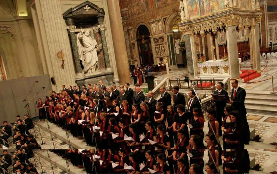 The Choir of the Pope's Diocese will perform in Stamford, Thursday, June 9, one of only six U.S. appearances. It is the first time the group is performing in this country. The concert, which begins at 8 p.m., will be at the Palace Theatre. For ticket information, visit www.scalive.org. Photo: Contributed Photo / Stamford Advocate Contributed
