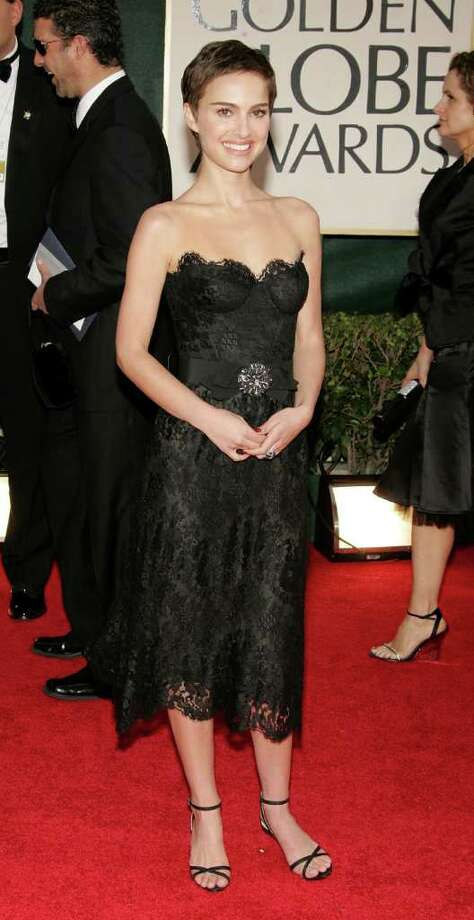 Portman arrives to the 63rd Annual Golden Globe Awards at the Beverly Hilton on January 16, 2006 in Beverly Hills, California. Photo: Frazer Harrison, Getty Images / 2006 Getty Images