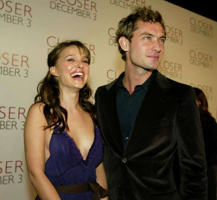 Portman and Jude Law arrive to the premiere of 'Closer' at the Mann Village on November 22, 2004 in Los Angeles. Photo: Kevin Winter, Getty Images / 2004 Getty Images