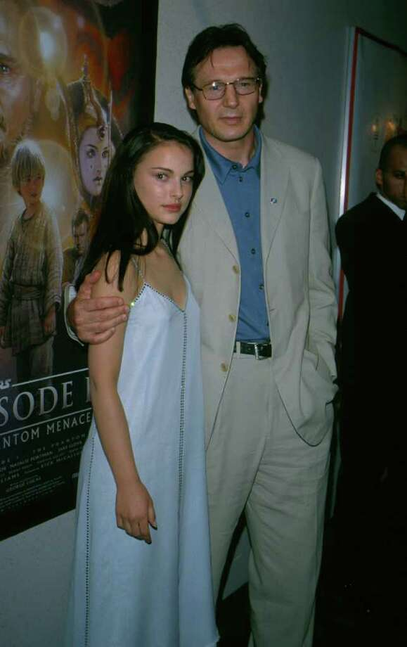 Portman and Liam Neeson at the premiere of 'Stars Wars: The Phantom Menace' in New York on May 16, 2000. Photo: Frank Micelotta, Getty Images / Getty Images North America