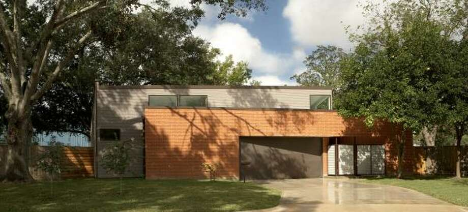 "The ""Three Square House"" at 8210 Hillcroft, designed by MC2 Architects. Photo: MC2 Architects"