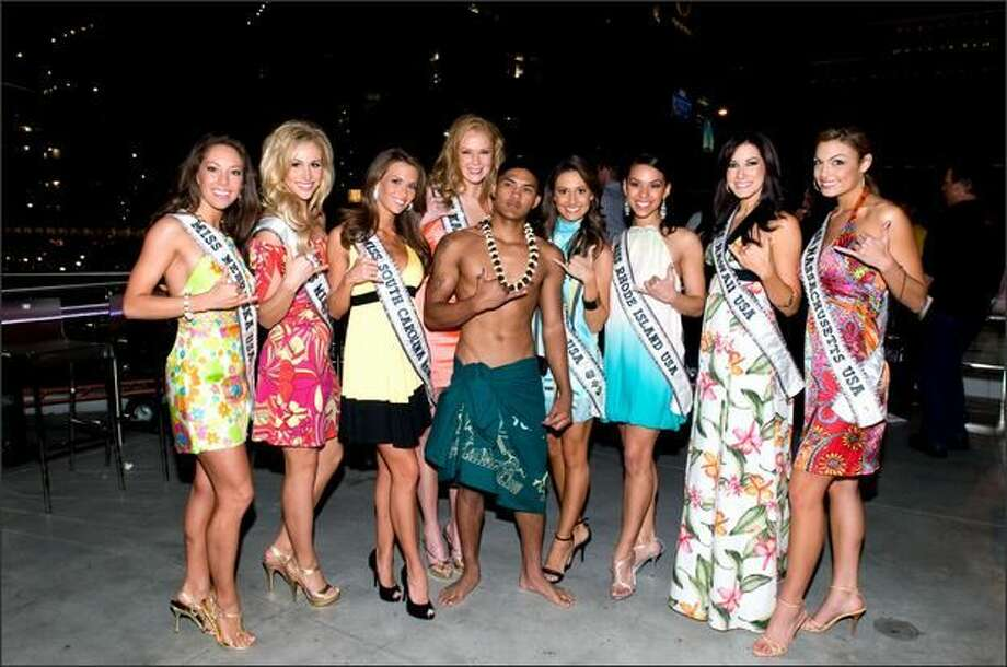 Micaela Johnson, Miss Nebraska USA 2008, Candice Crawford, Miss Missouri USA 2008, Jamie Hill, Miss South Carolina USA 2008, 