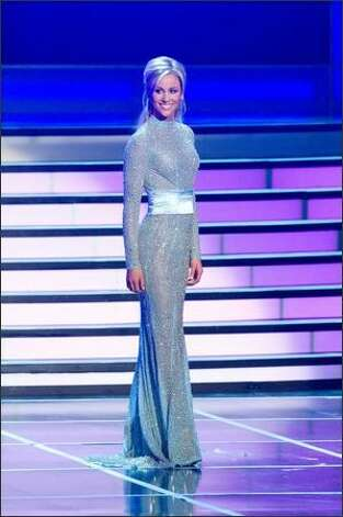 Candice Crawford, Miss Missouri USA 2008 from Columbia, competes as a top 10 semifinalist in her own evening gown. Photo: Miss Universe L.P., LLLP / Miss Universe L.P., LLLP Photo: Miss Universe L.P., LLLP