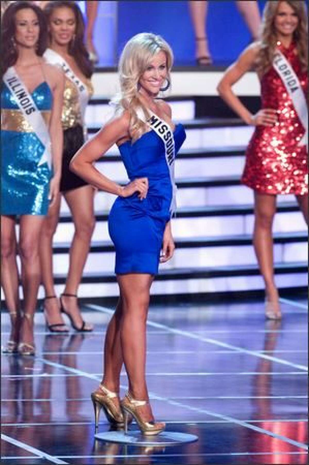 Candice Crawford, 21, Miss Missouri USA 2008 from Columbia, was the fifth of the top 15 semifinalists to be called. Photo: Miss Universe L.P., LLLP