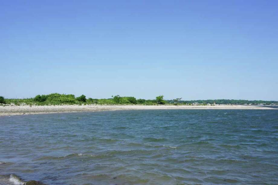 The western end of Cockenoe Island is seen here from the north shore of the island. Photo: Paul Schott / Westport News