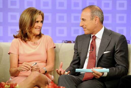 "In this image released by NBC, ""Today"" show co-host Matt Lauer talks about his favorite ""Meredith"" moments on the ""Today"" show along with ""Today"" show co-host Meredith Vieira, Tuesday, June 7, 2011 in New York. Vieira's last day on the show is Wednesday. Photo: AP"