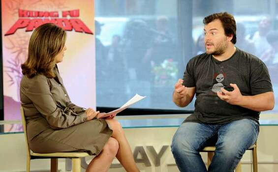 "In this publicity image released by NBC, ""Today"" show co-host Meredith Vieira talks with actor Jack Black about his new movie ""Kung Fu Panda 2"" on the ""Today"" show, Tuesday, May 24, 2011 in New York. Photo: AP"