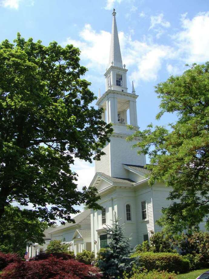 The stately sanctuary of Green's Farms Congregational Church in Westport, which is marking its 300th anniversary. Photo: Meg Barone / Westport News freelance