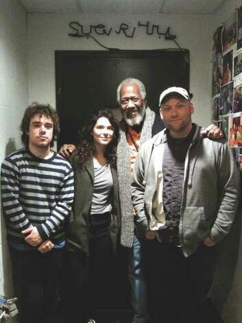 (l to r) Avi Zahner-Isenberg, Sheridan Riley, Chuck Rainey and Jed Davis of Sevendys at SugarHill in Houston, Texas, on December 8, 2010. (Courtesy Jed Davis) Photo: Eric Jarvis