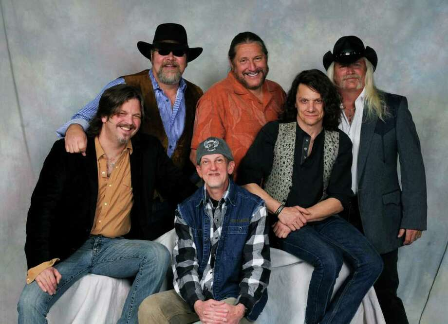 Doug Gray, back row center, leads the Marshall Tucker Band into its 40th year. (Photo courtesy of Ramblin Records)