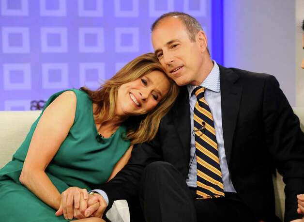 "In this photo released by NBC, ""Today"" show co-hosts Matt Lauer and Meredith Vieira hold hands on Vieira's last day on the ""Today"" show, Wednesday, June 8, 2011, in New York. Photo: AP"