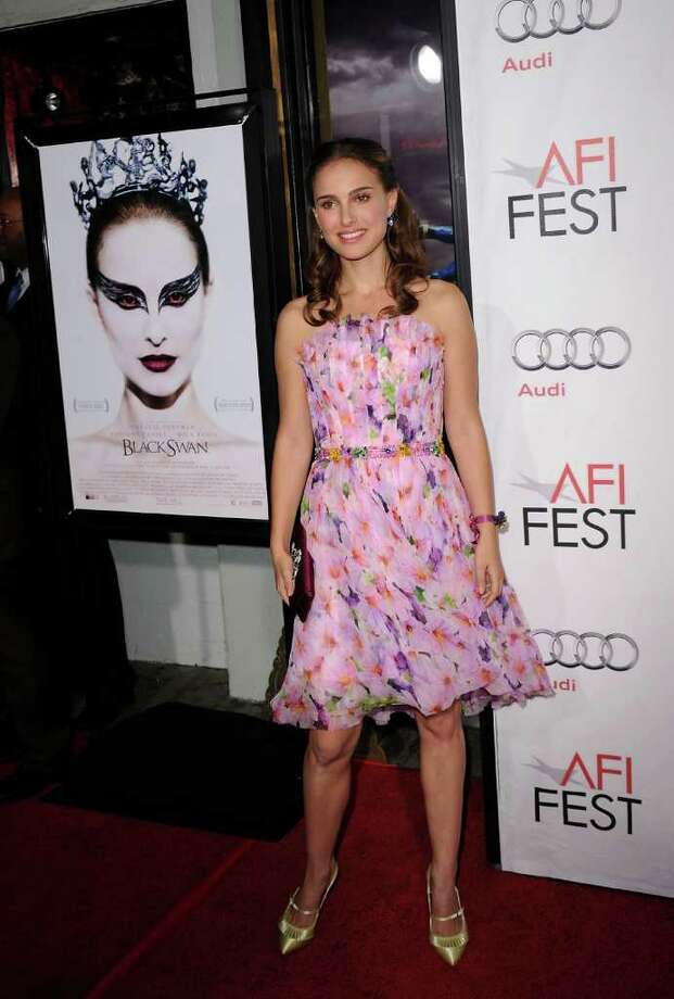Portman arrives at the 'Black Swan' closing night gala during AFI FEST 2010 at Grauman's Chinese Theatre on November 11, 2010 in Hollywood, California. Photo: Jason Merritt, Photo By Jason Merritt/Getty Images / 2010 Getty Images