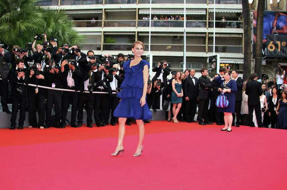 Portman poses arrives to attend the screening of Belgian directors Jean-Pierre and Luc Dardenne's film 'Le Silence de Lorna' (Lorna's Silence) at the 61st Cannes International Film Festival on May 19, 2008 in Cannes, France. Photo: VALERY HACHE, Getty Images / 2008 AFP