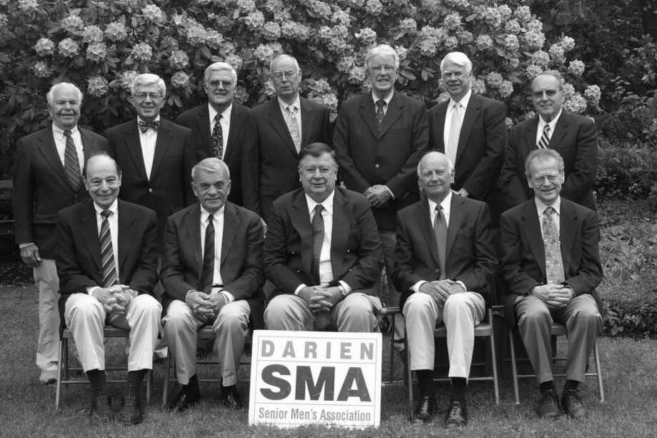 Officers and Directors of the Darien SMA include, front row from left, George Brookner, director; Bill Ball, second vice president and director; John Podkowsky, president and director; Bob Ready, first vice president and director; and Bob Smith, secretary and director; second row from left, George Cammann, Colin Costello, Jack Fitzgilbbons, Marc Thorne, Kirk Jewett, Frank Johnson and Peter Hallock, directors. Photo: Contributed Photo / Darien News