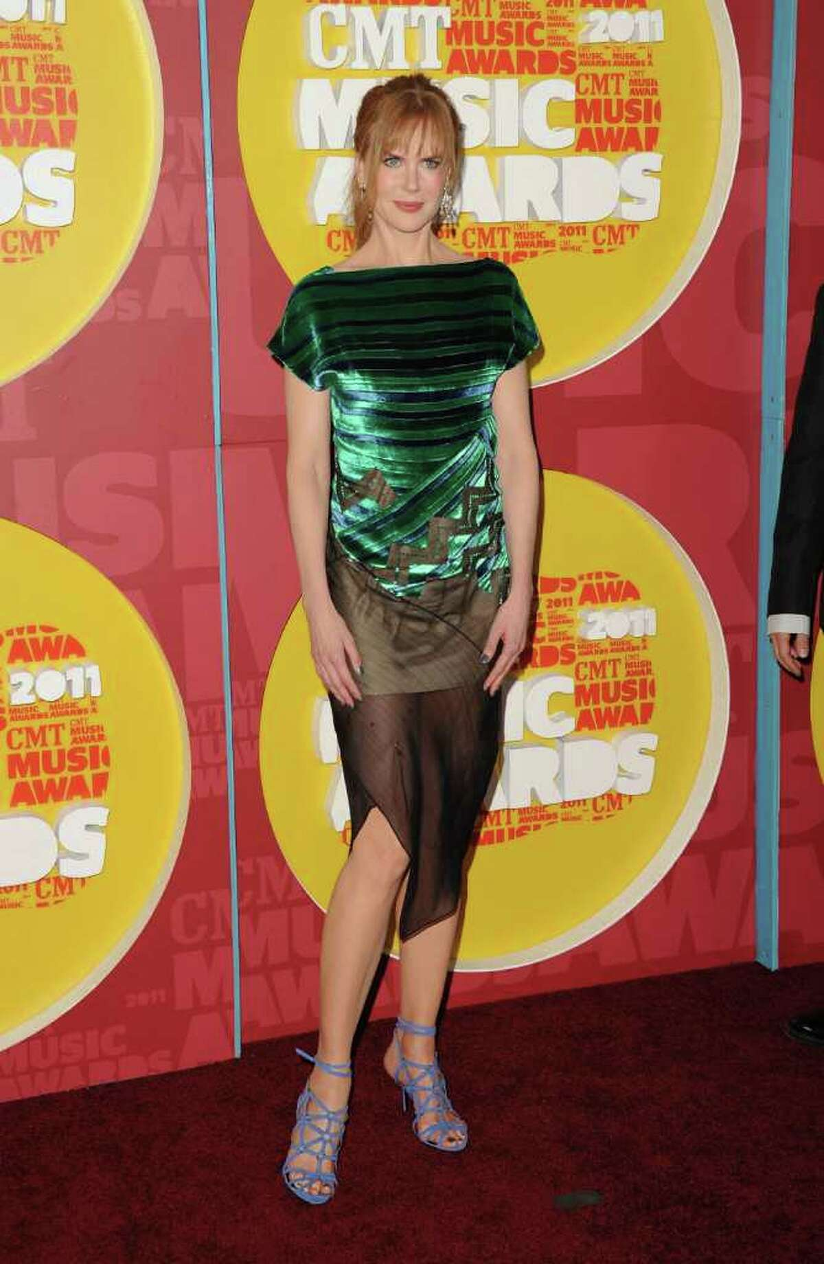 Actress Nicole Kidman attends the 2011 CMT Music Awards at the Bridgestone Arena in Nashville, Tenn., on Wednesday, June 8, 2011.