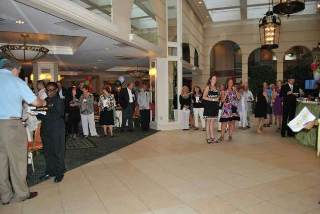 On June 8, 2011 a sculpture opening party was held at the Stamford Marriott. Photo: Lauren Stevens/Hearst Connecticut Media Group