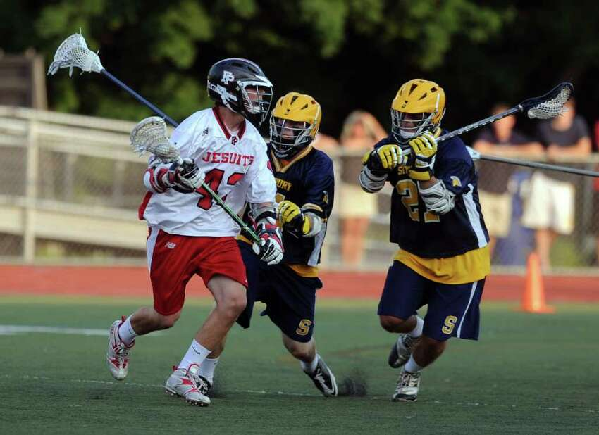 Wednesday's Division L semifinal game between Fairfield Prep and Simsbury at Brien McMahon High School on June 8, 2011.