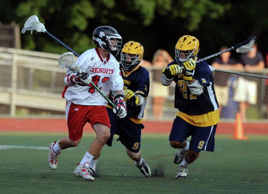 Wednesday's Division L semifinal game between Fairfield Prep and Simsbury at Brien McMahon High School on June 8, 2011. Photo: Lindsay Niegelberg / Connecticut Post