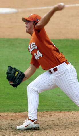 Texas' Austin Wood pitches against Wake Forest on June 3, 2007, at Dell Diamond in Round Rock. Texas won 7-4 in 12 innings. EDWARD A. ORNELAS/EXPRESS-NEWS Photo: EDWARD A. ORNELAS, Longhorns / SAN ANTONIO EXPRESS-NEWS
