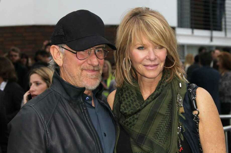 "Producer/director Steven Spielberg (L) and actress Kate Capshaw attend the Premiere of Paramount Pictures' ""Super 8"" at the Regency Village Theater in Los Angeles, California. Photo: Frederick M. Brown, Getty Images / 2011 Getty Images"