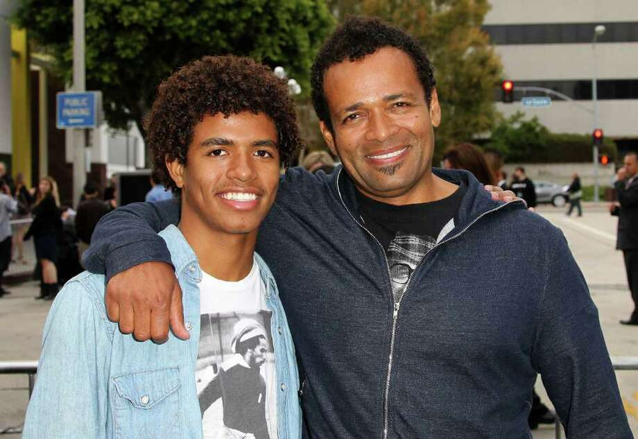 "Actors Mandela Van Peebles (L) and Mario Van Peebles attend the Premiere of Paramount Pictures' ""Super 8"" at the Regency Village Theater in Los Angeles, California. Photo: Frederick M. Brown, Getty Images / 2011 Getty Images"