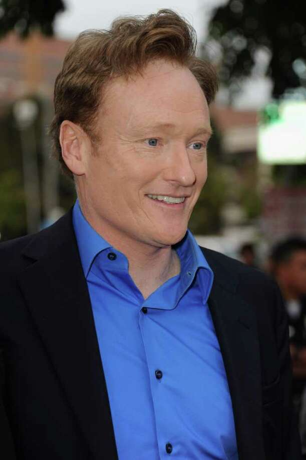 "Television host Conan O'Brien arrives at the premiere of Paramount Pictures' ""Super 8"" at Regency Village Theatre in Westwood, California. Photo: Kevin Winter, Getty Images / 2011 Getty Images"