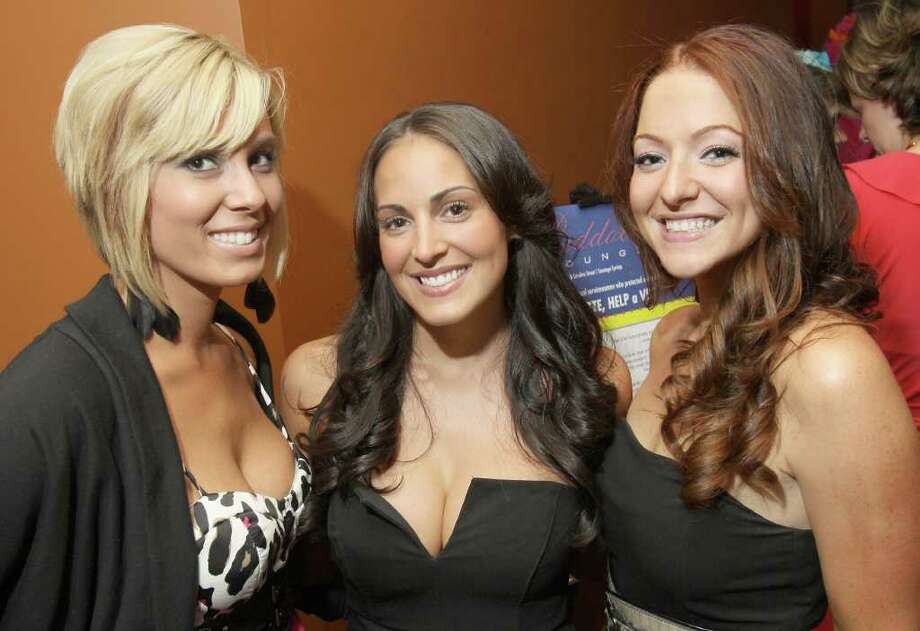 "Saratoga Springs, NY - June 3, 2011 - (Photo by Joe Putrock/Special to the Times Union) - (l to r)Meghan Dankanich, Shannon Delgado and Jessica Jacobs during ""Win a Vette, Save a Vet"", a benefit for Guardian House. Photo: Joe Putrock / Joe Putrock"
