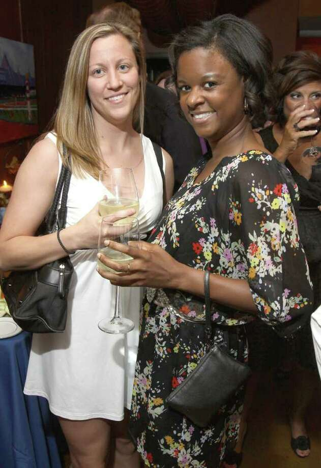 "Saratoga Springs, NY - June 3, 2011 - (Photo by Joe Putrock/Special to the Times Union) - Ashley Swint(left) and Takara Wiles(right) during ""Win a Vette, Save a Vet"", a benefit for Guardian House. Photo: Joe Putrock / Joe Putrock"