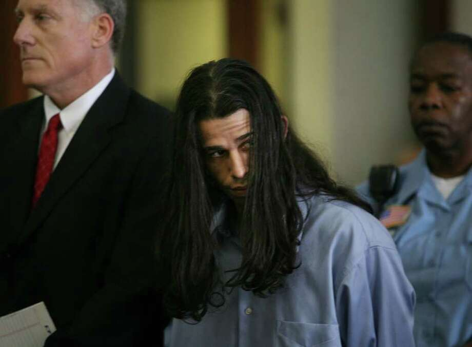Rey Damien Garcia is arraigned on two counts of murder at the Fairfield County Courthouse on Golden Hill Street in Bridgeport, Tuesday, June 1, 2010. Photo: Brian A. Pounds, ST / Connecticut Post