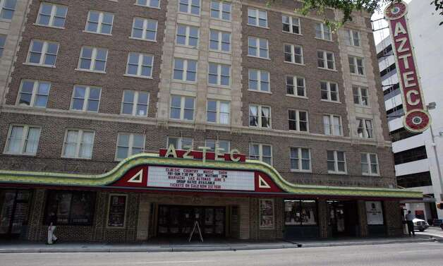 The Aztec Theatre, built in 1926, is part of the Texas Star Trail that loops past 79 historical sites in downtown San Antonio. OMAR PEREZ / EXPRESS-NEWS / SAN ANTONIO EXPRESS-NEWS
