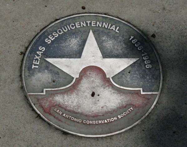 Aluminum star medallions mark the historic sites along the Texas Star Trail. OMAR PEREZ / EXPRESS-NEWS / SAN ANTONIO EXPRESS-NEWS
