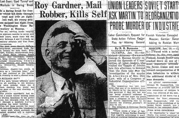 The Jan. 11, 1940 P-I story about Roy Gardner's death in San Francisco. Photo: Seattlepi.com File