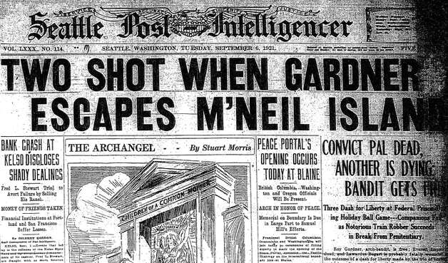 The Sept. 6, 1921 story about the search for Roy Gardner, who escaped from McNeil Island. Photo: Seattlepi.com File