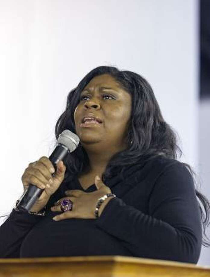 Gospel singer and preacher Kim Burrell leads services at the Love and Liberty Fellowship Church. Photo: Craig Hartley, For The Chronicle