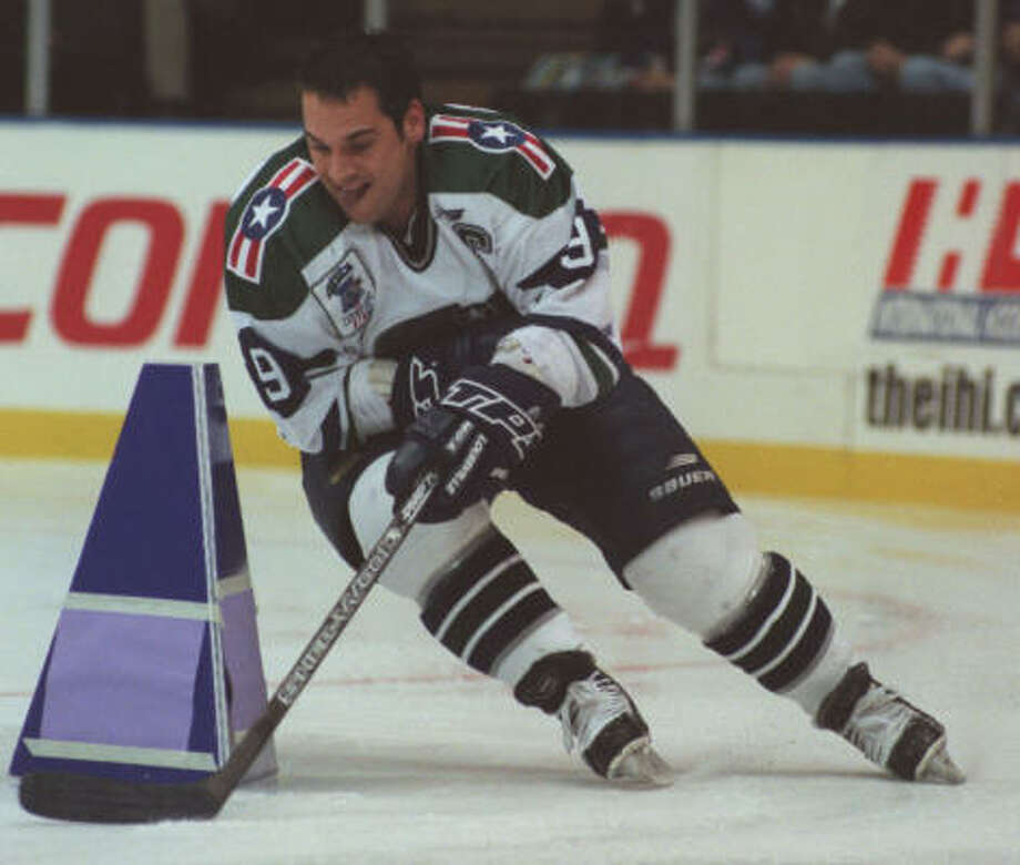 Brian Wiseman, shown at the All-Star Game during his playing days with the Aeros, served as an Aeros coach for one season. Photo: Melissa Phillip, Chronicle