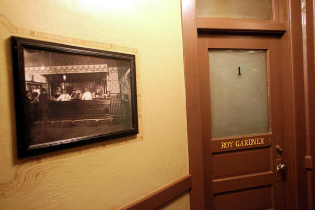 The Roy Gardner room is shown at the Olympic Club Hotel in Centralia, Wash. In 1921, notorious outlaw Roy Gardner -- who later escaped from  McNeil Island prison -- was captured in that room. Photo: Joshua Trujillo/Seattlepi.com, AP / Seattlepi.com
