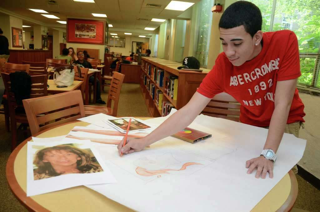 Stamford High School Sophomore, Joe Pastrana, Works On A Life Sized Two