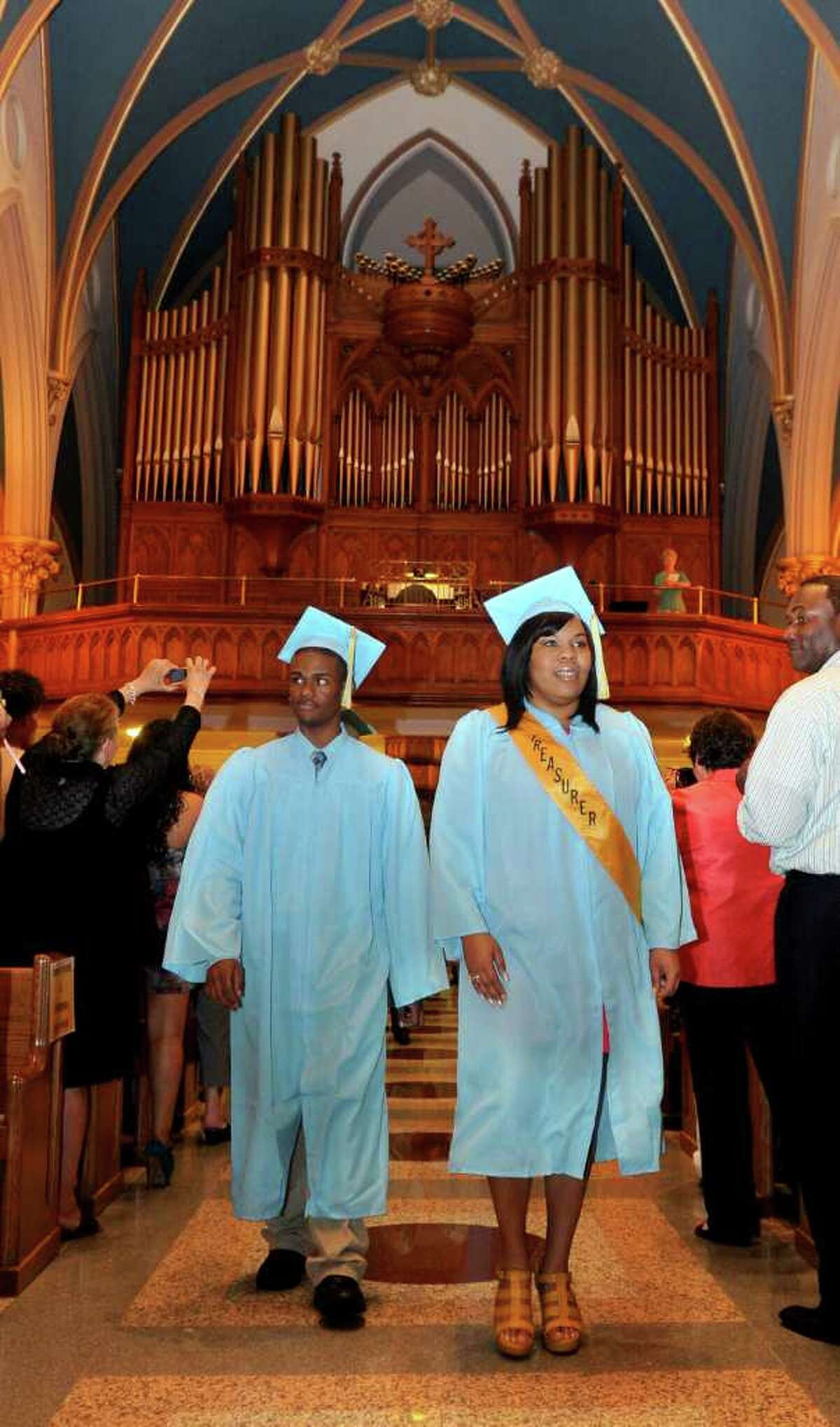 Thursday's graduation ceremony for Kolbe Cathedral High School Seniors at St. Augustine Cathedral in Bridgeport on June 9, 2011.