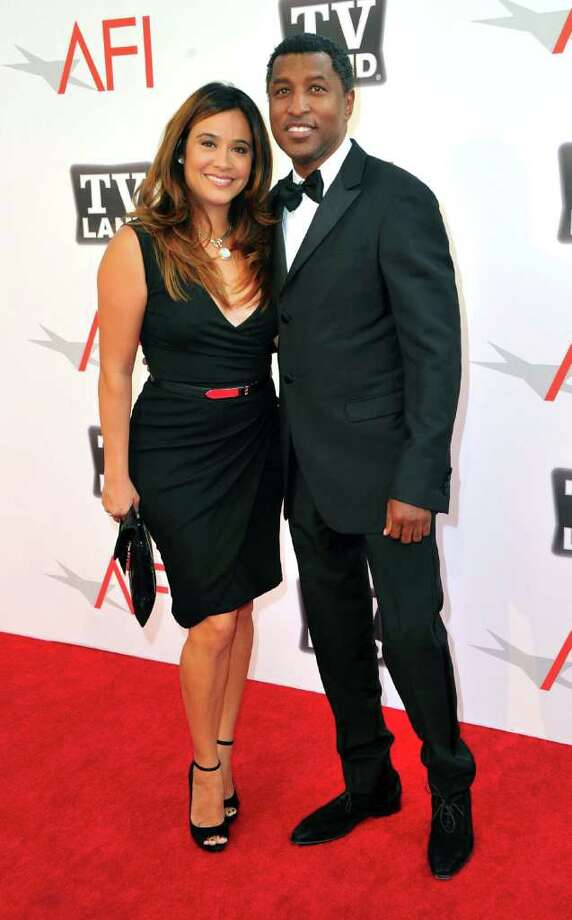 Producer Kenneth 'Babyface' Edmonds (L) and Nicole 'Nikki' Pantenburg arrive. Photo: Alberto E. Rodriguez, Getty Images / 2011 Getty Images