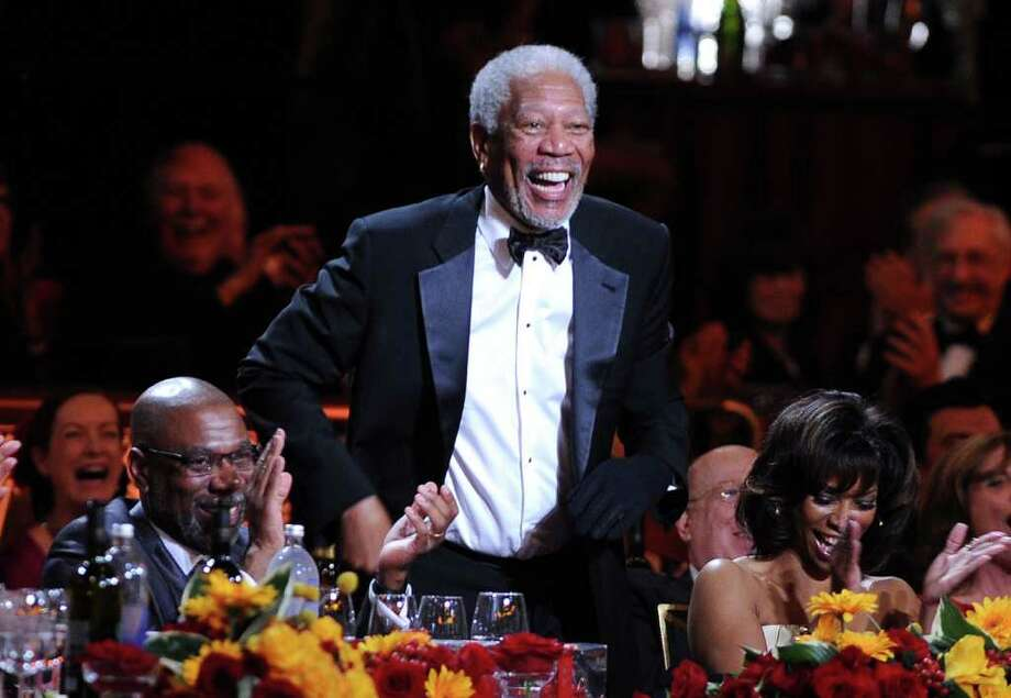 Morgan Freeman in the audience. Photo: Frazer Harrison, Getty Images For AFI / 2011 Getty Images