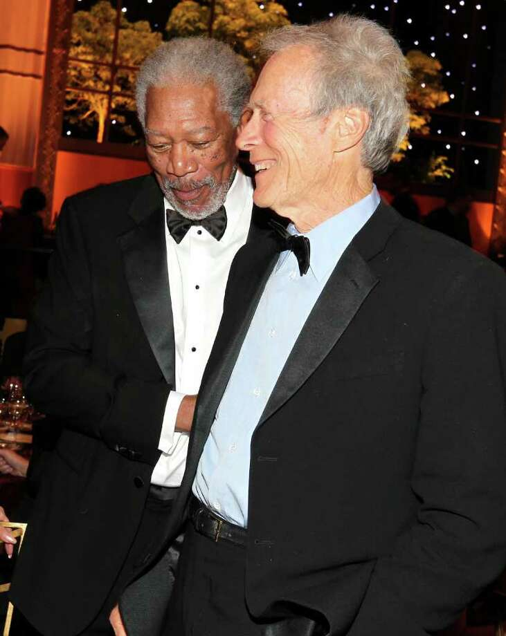 Morgan Freeman (L) and Director Clint Eastwood. Photo: Christopher Polk, Getty Images For AFI / 2011 Getty Images