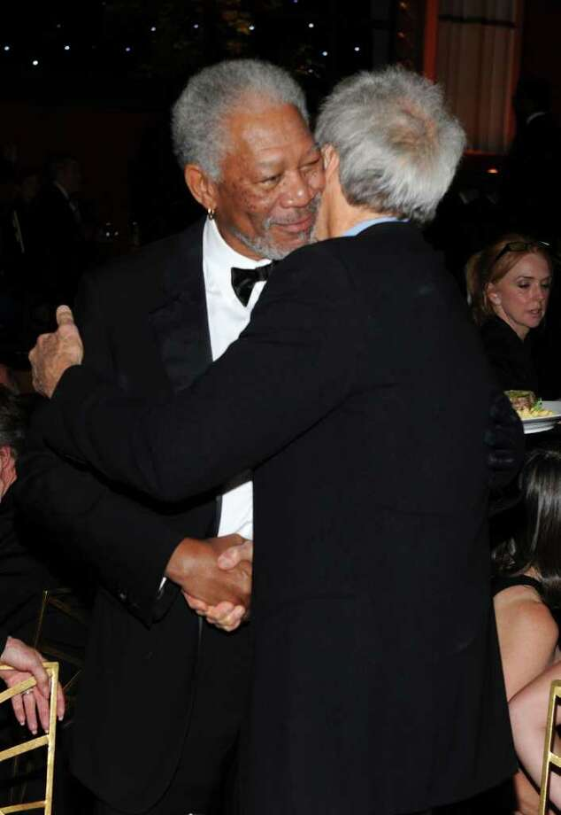 Morgan Freeman (L) and Director Clint Eastwood. Photo: Frazer Harrison, Getty Images For AFI / 2011 Getty Images