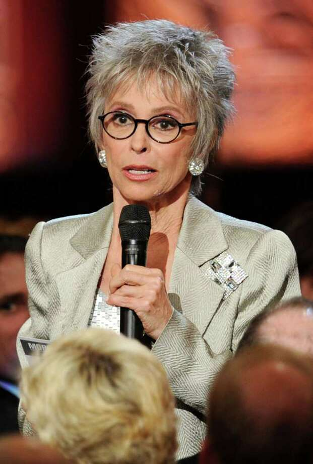 Actress Rita Moreno speaks onstage. Photo: Kevin Winter, Getty Images For AFI / 2011 Getty Images
