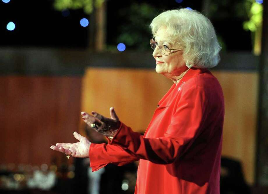 Actress Betty White speaks onstage. Photo: Frazer Harrison, Getty Images For AFI / 2011 Getty Images