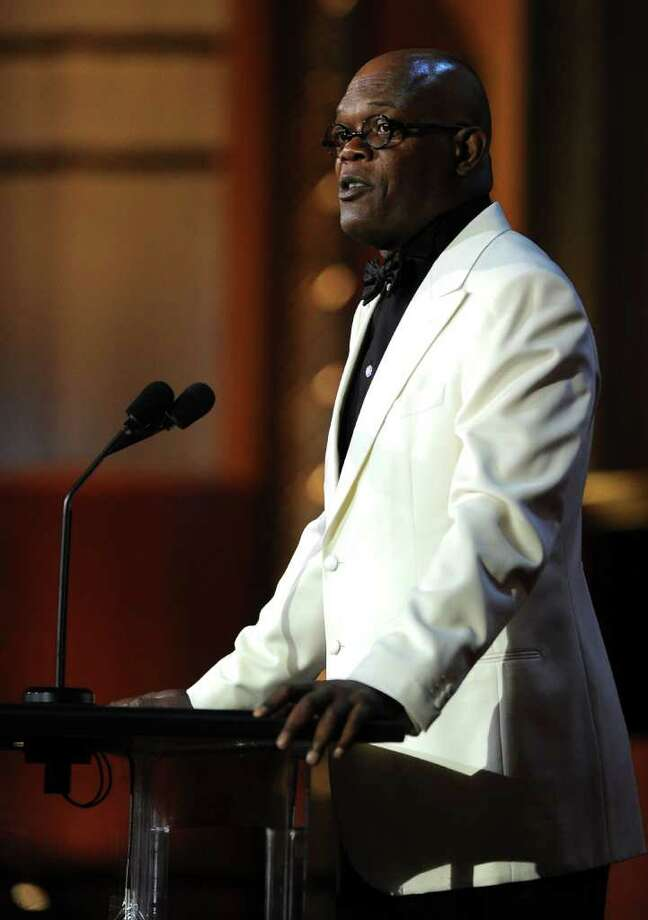 Actor Samuel L. Jackson speaks onstage. Photo: Frazer Harrison, Getty Images For AFI / 2011 Getty Images