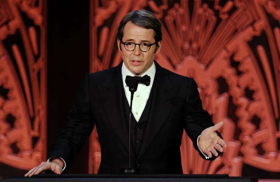 Actor Matthew Broderick speaks onstage. Photo: Kevin Winter, Getty Images For AFI / 2011 Getty Images