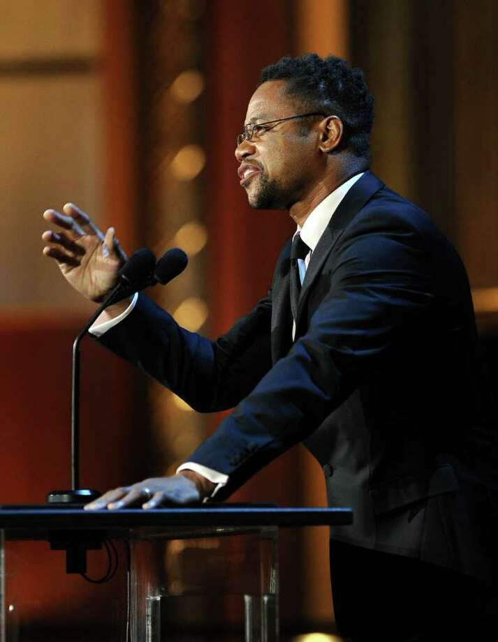 Actor Cuba Gooding Jr. speaks onstage. Photo: Frazer Harrison, Getty Images For AFI / 2011 Getty Images