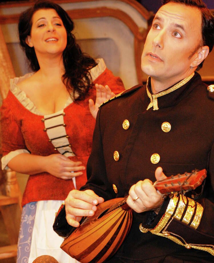 "Janara Kellerman and Samuel Mongo appear in the San Antonio Opera's staging of ""H.M.S. Pinafore."" COURTESY KRISTAN JAIME"