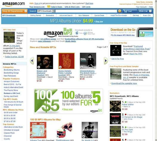 A web page for Amazon.com, is seen in this screengrab taken on Wednesday, May 26, 2010. Amazon.com, the world's largest online retailer, told partner retailers in Connecticut it will be ending their relationship because of a controversial Internet sales tax passed by the state legislature. Source: Amazon.com via Bloomberg  EDITOR'S NOTE. EDITORIAL USE ONLY. NO SALES. Photo: Via Bloomberg / Amazon.com